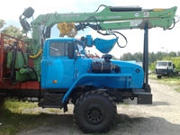 Урал лесовоз 596014 с ГМ Атлант 90 (ЛВ 185-14)