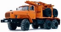 Лесовозный (автопоезд) тягач 596014 + прицеп роспуск
